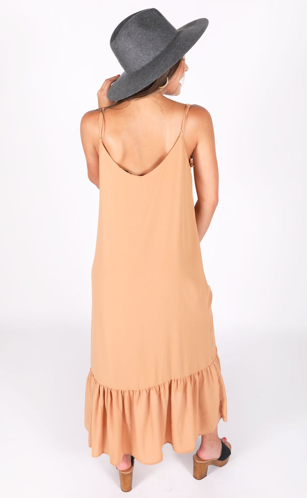 full of life midi dress - caramel