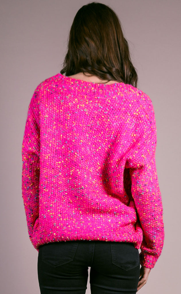 funfetti v-neck sweater