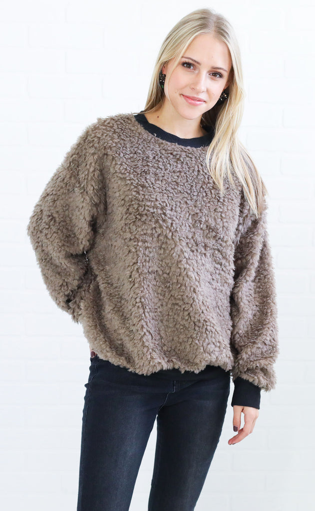 fuzz off pullover sweater