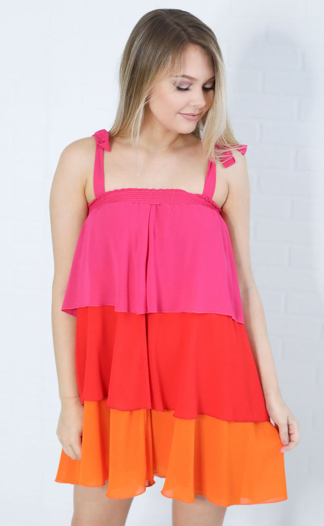show me your mumu: gabriela convertible skirt dress - sunshine colorblock