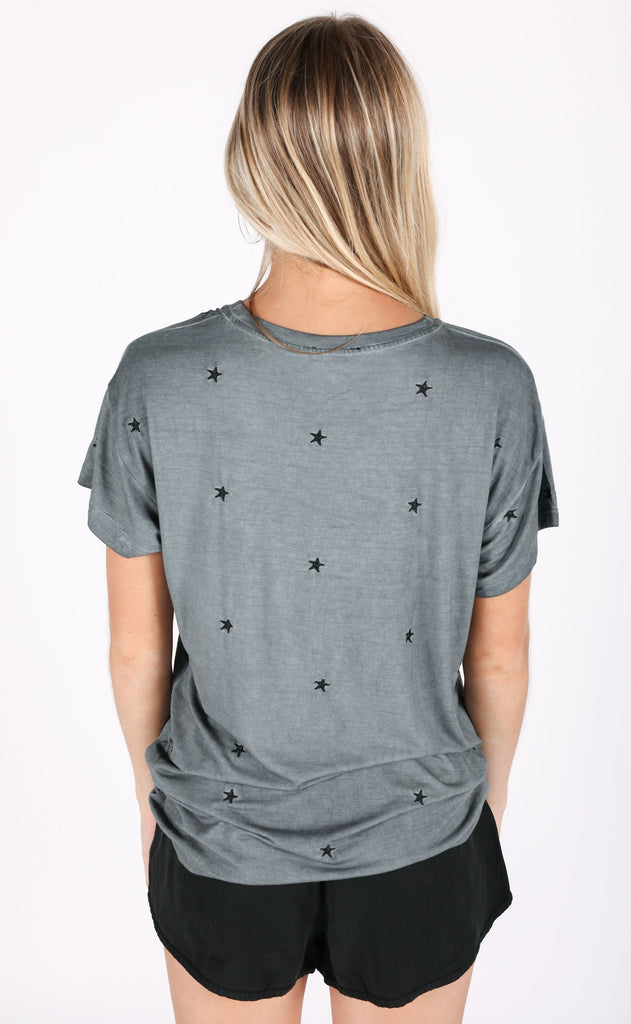 galaxy embroidered tee