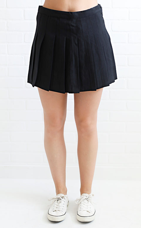 game day skirt - black