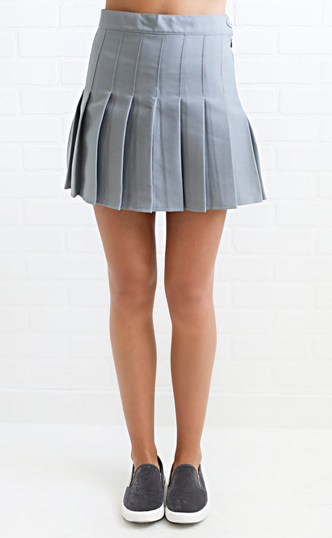 game day skirt - grey