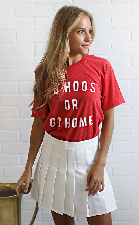 game day skirt - white