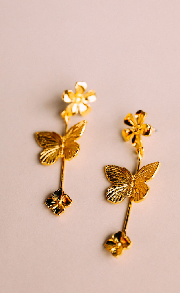garden party earrings - butterfly
