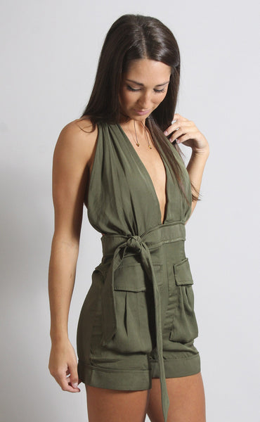 geared up utility romper