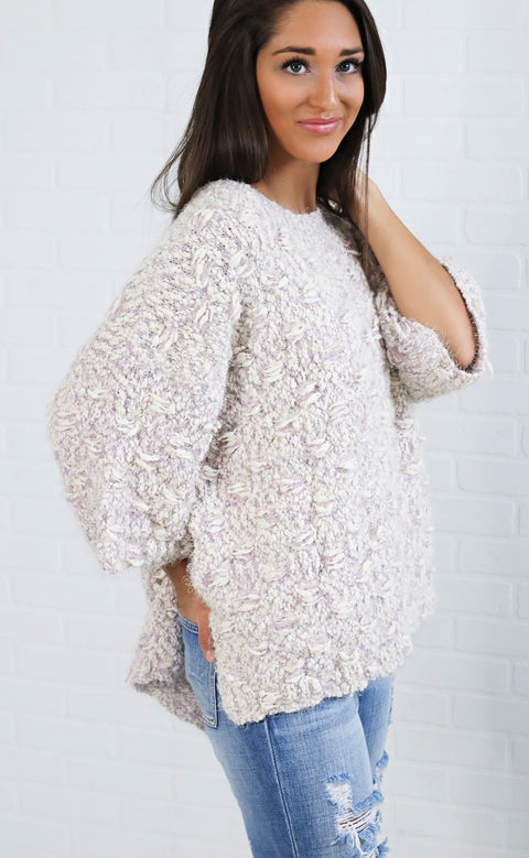 get it oversized sweater - lavender
