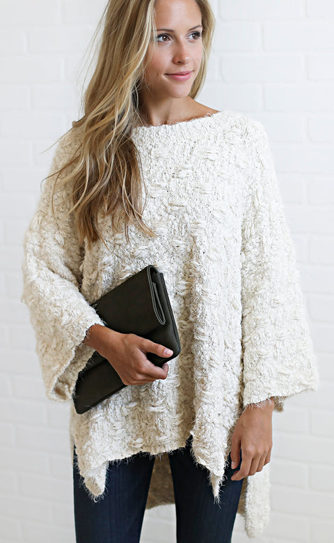 get it oversized sweater - ivory