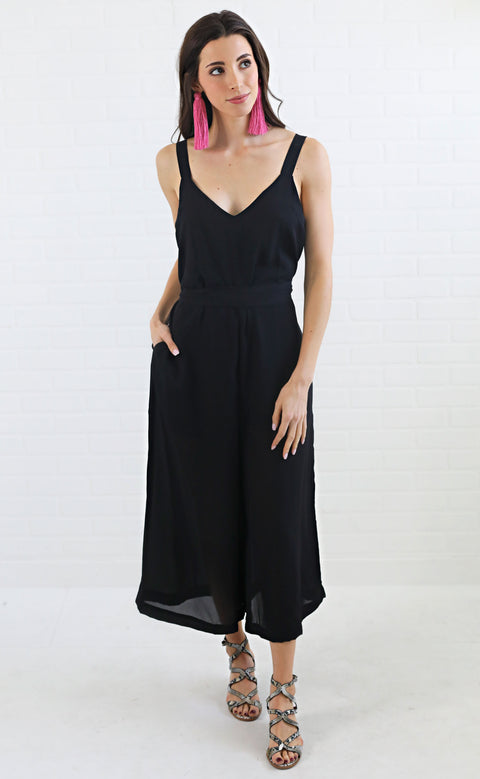 girls night flowy jumpsuit