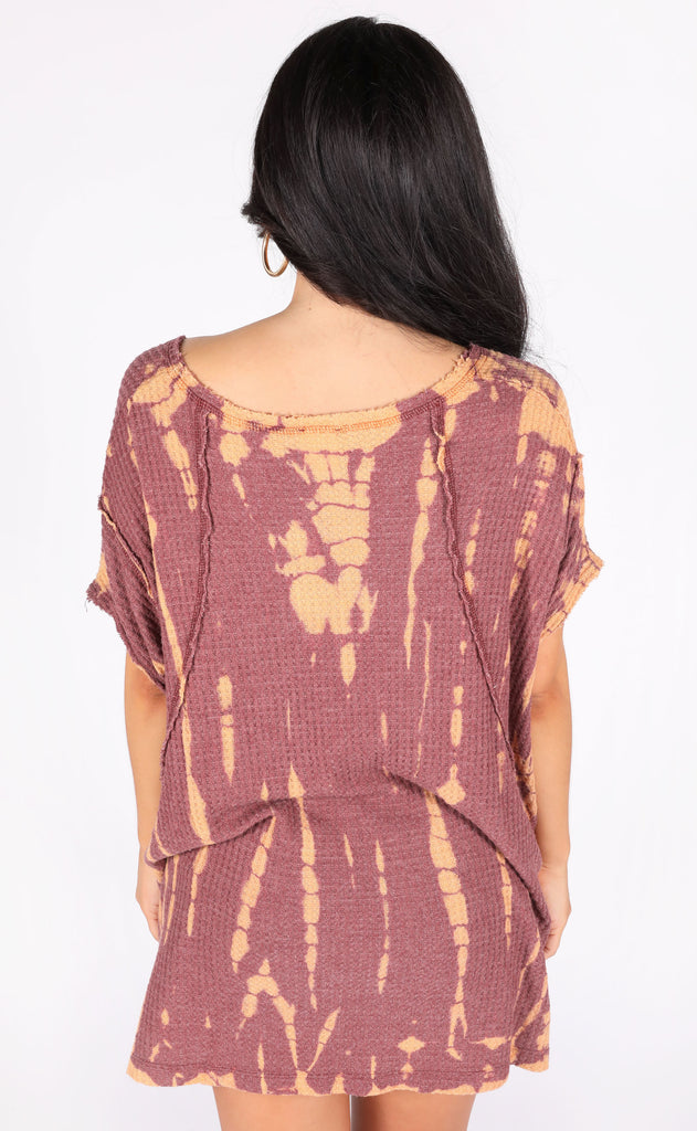 give me the scoop tie dye tunic