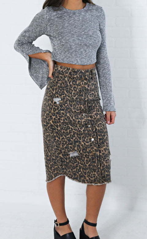 something about you printed skirt