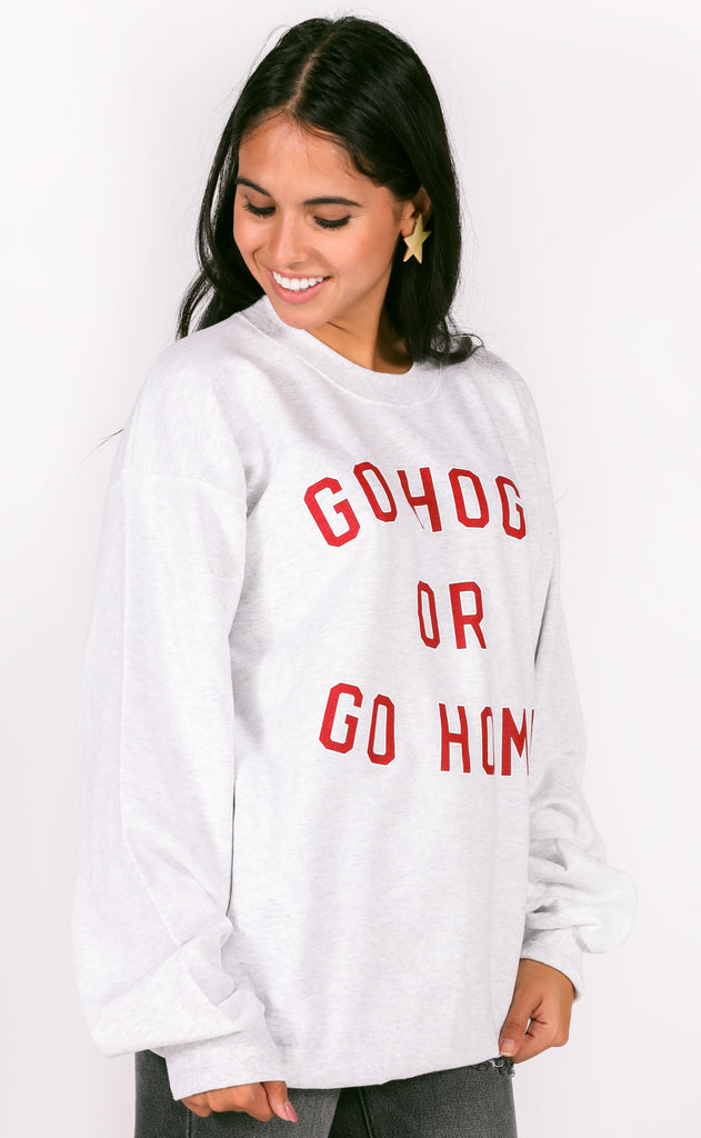 charlie southern: go hogs or go home sweatshirt