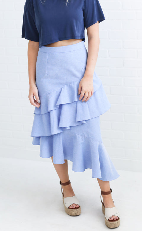 go with the flow tiered skirt