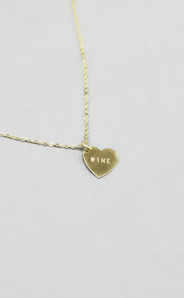 wine heart necklace