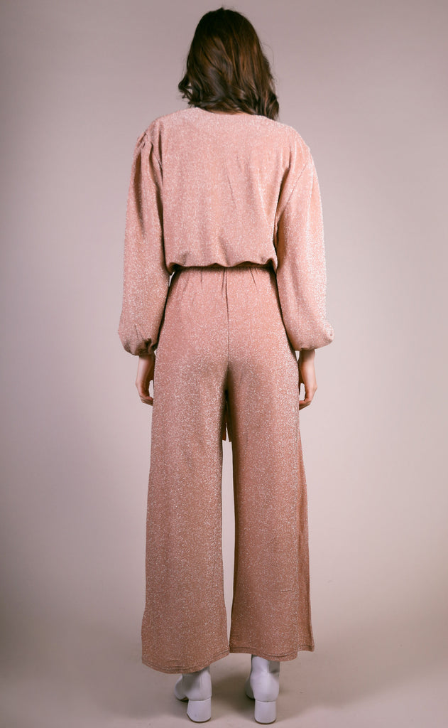 golden girl tie jumpsuit