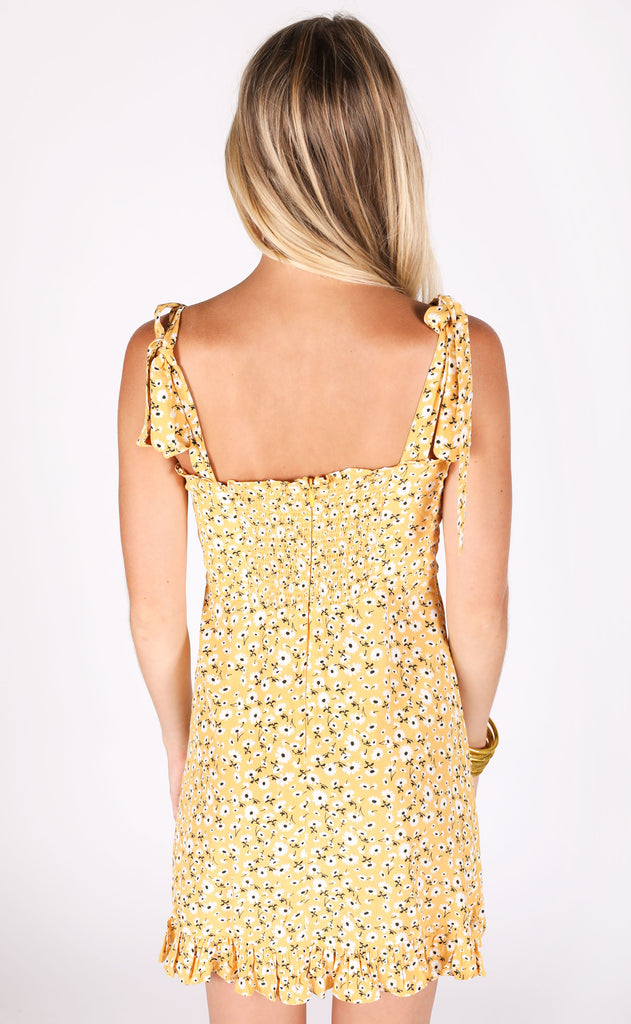 golden hour floral dress