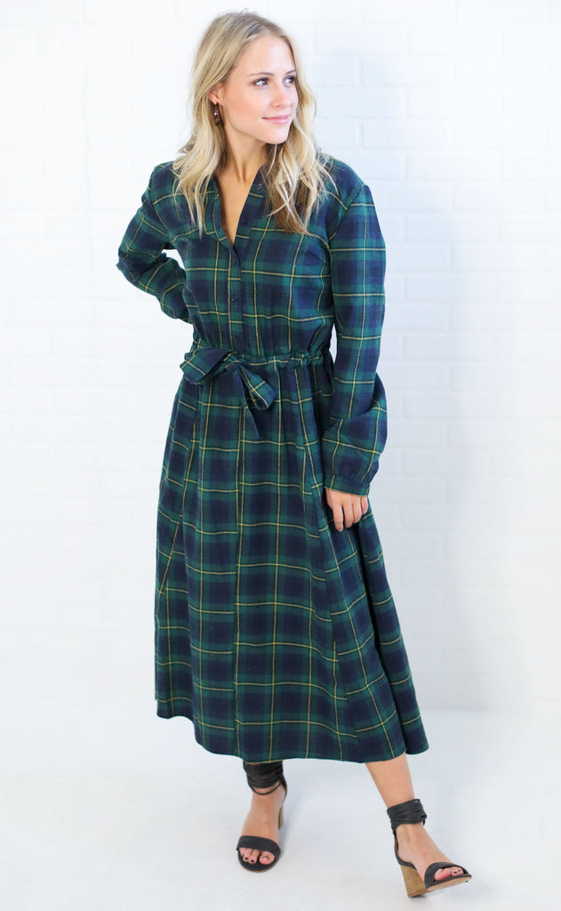 gone plaid shirt dress