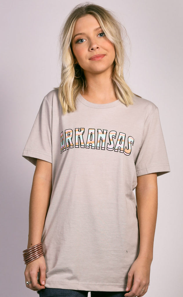 charlie southern: sunset state t shirt - arkansas