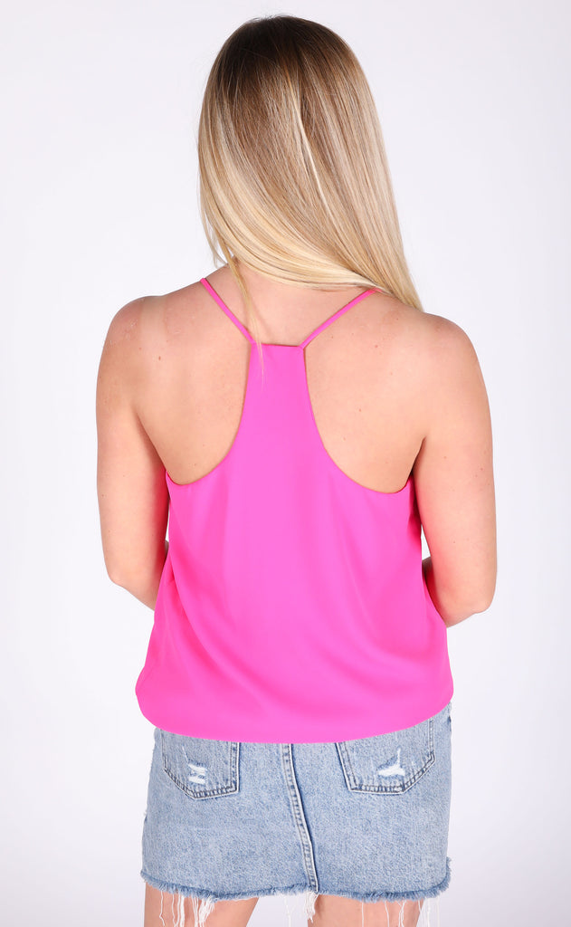 good impression slip top - hot pink