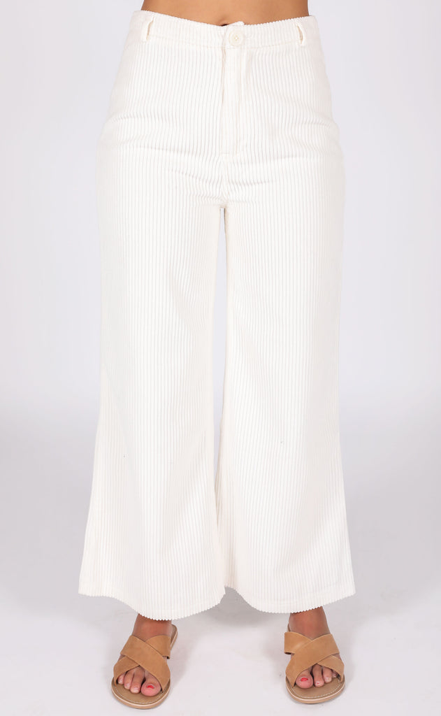amuse society: good company wide leg pant - casablanca