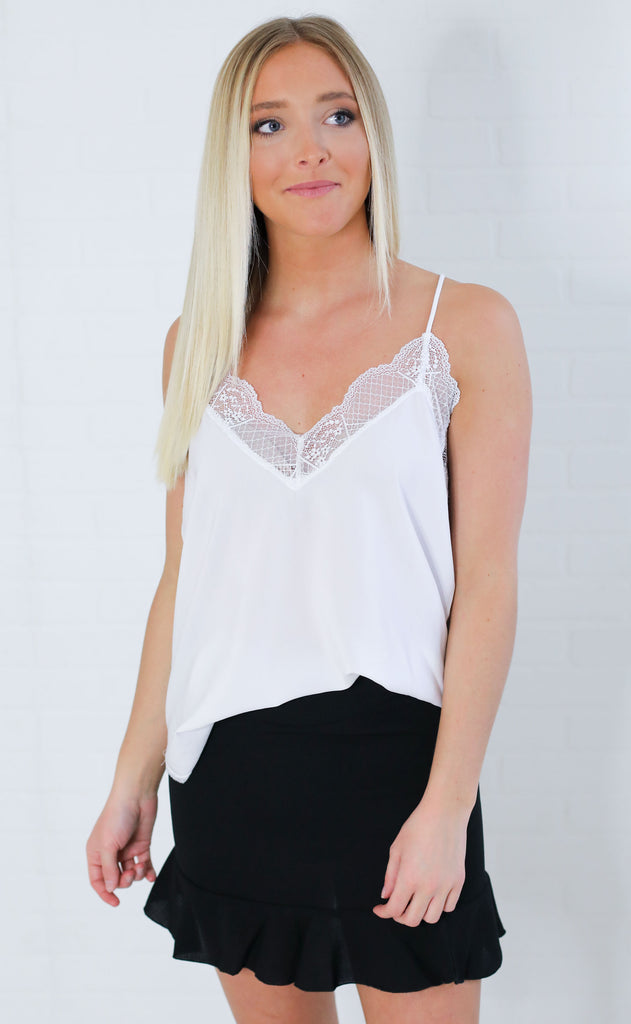 good grace lace cami - ivory