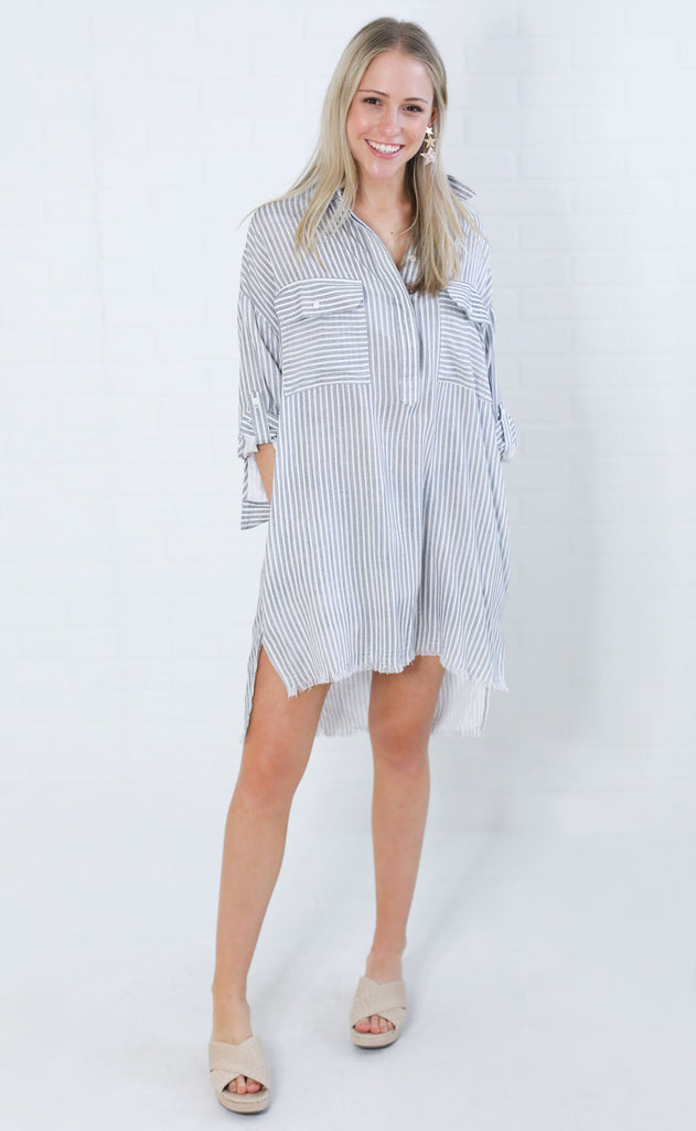good life shirt dress