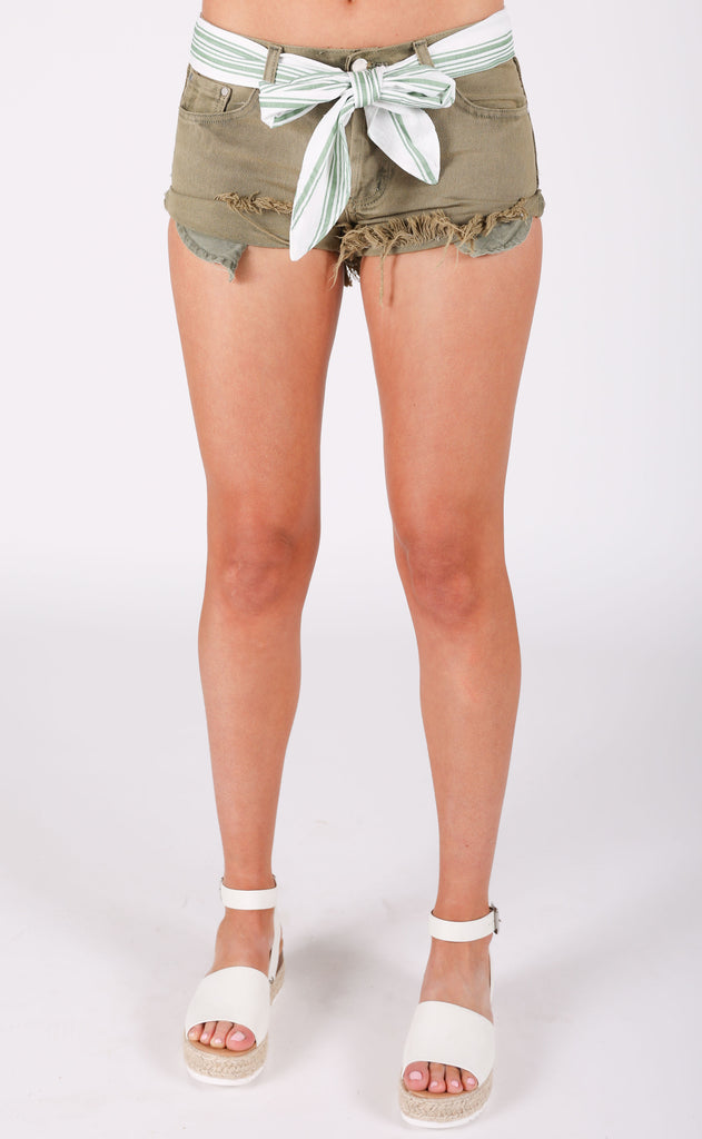 good lookin cutoff shorts - olive