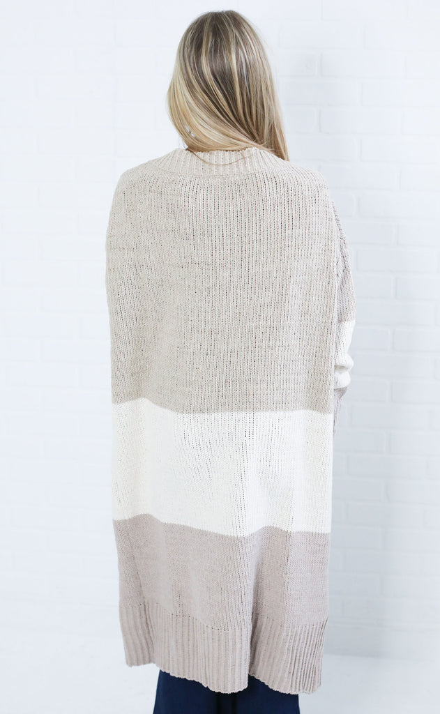 good news chenille cardigan - beige