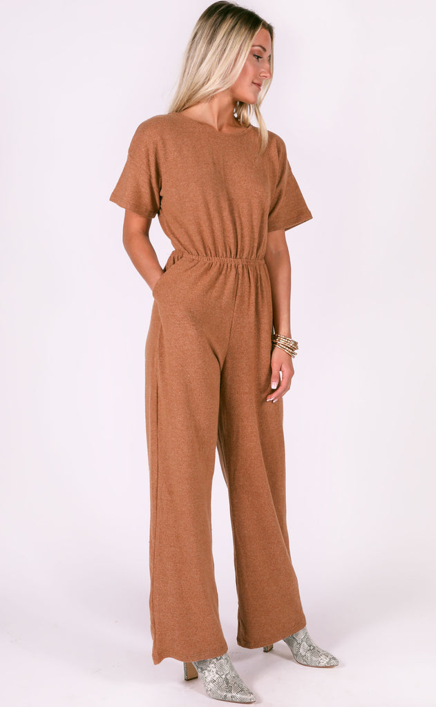 good vibrations ribbed jumpsuit