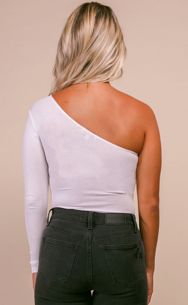 gotta have it one shoulder bodysuit