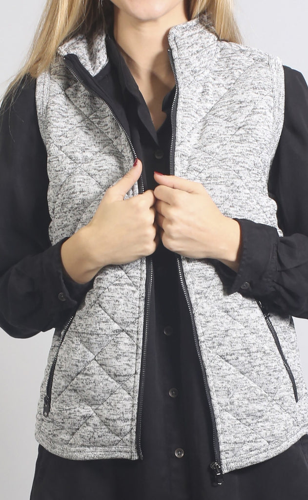 thread & supply: grady vest - heather grey
