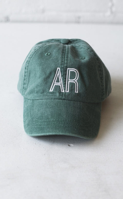 charlie southern: retro state hat - arkansas [green]