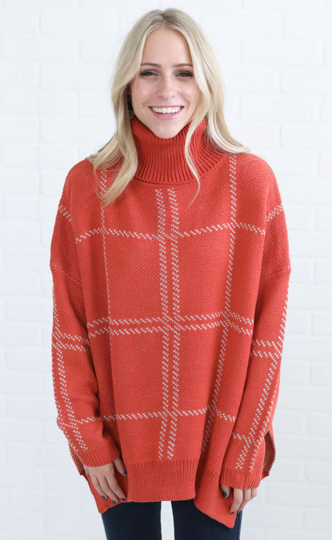 gridlock turtleneck sweater