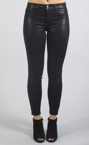 haley coated skinny jeans