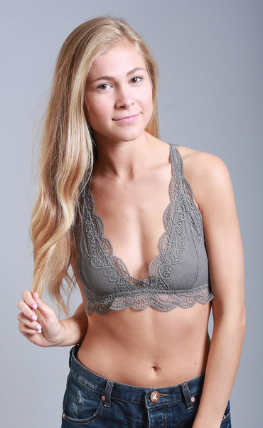 halter happiness lace bralette