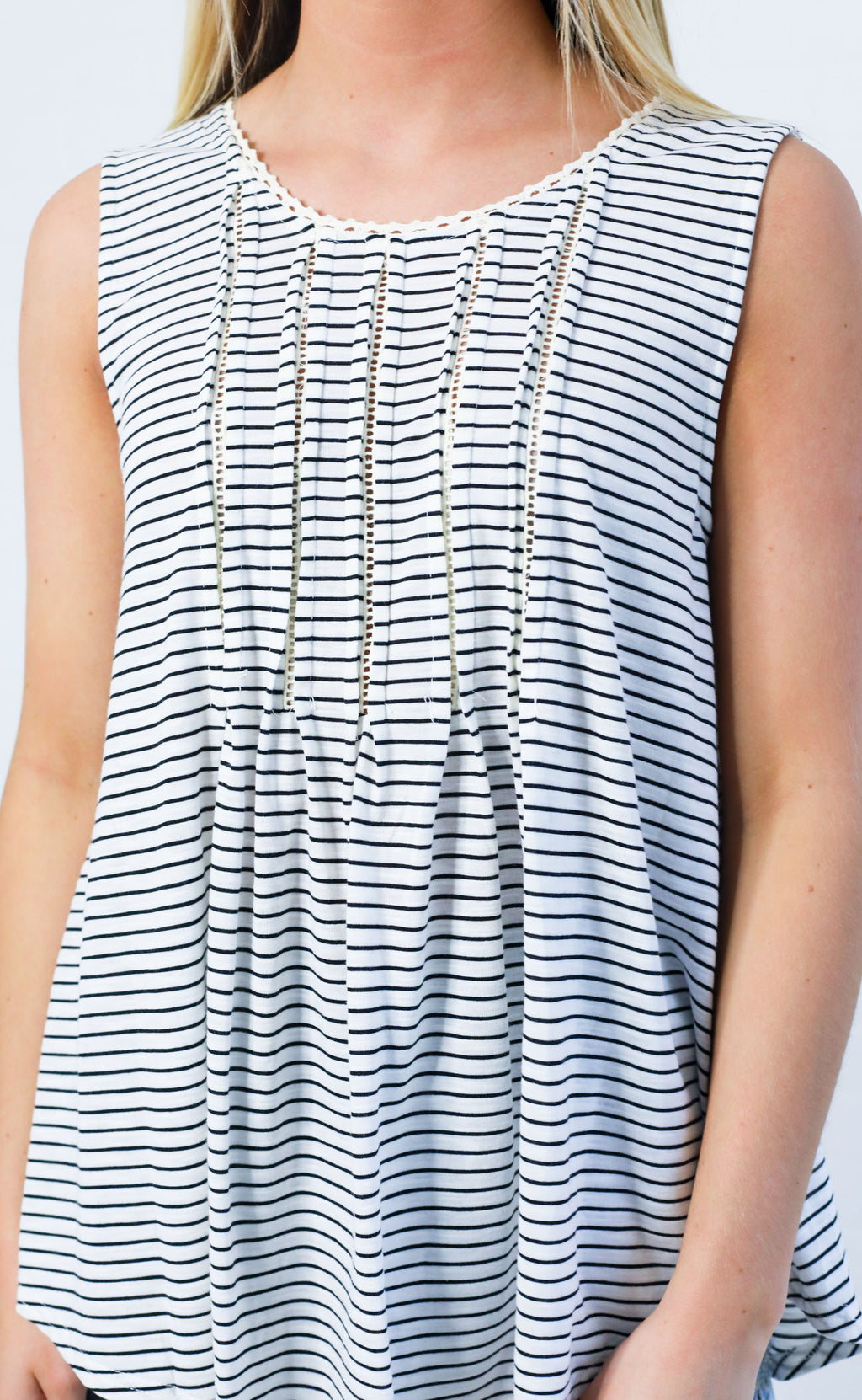 happily striped tank top