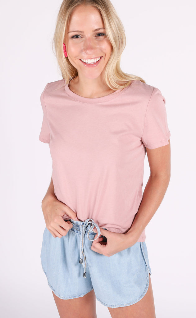 happy days basic top - blush