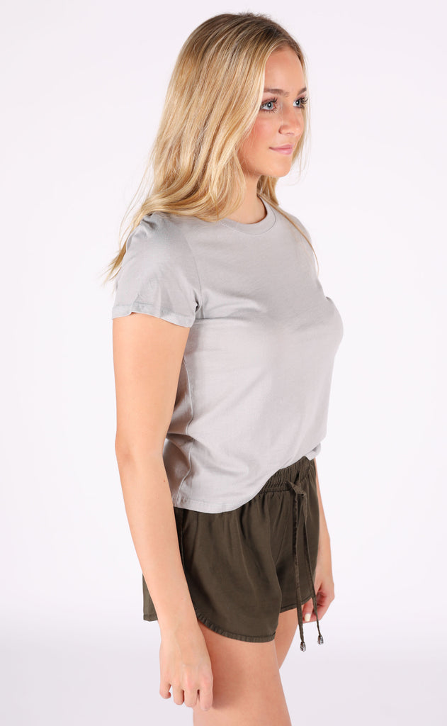 happy days basic top - grey