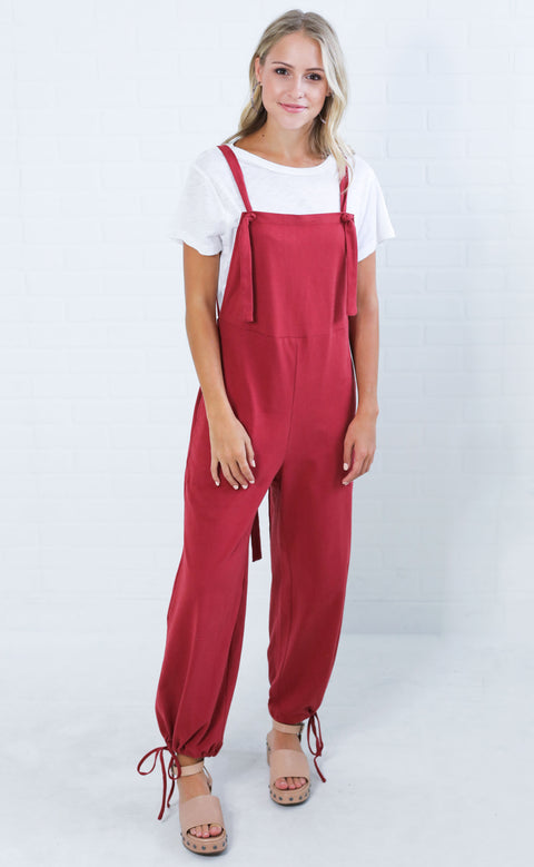 happy place slouchy overalls
