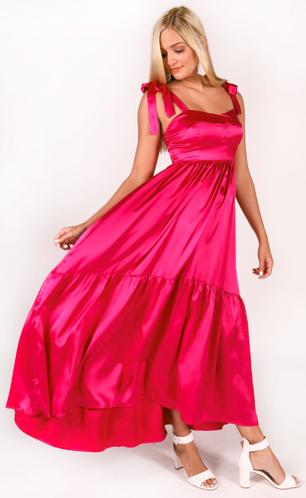 heart flutter silky dress