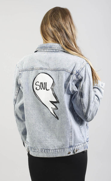 heart's desire denim jacket - soul