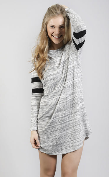 in it to win it heathered tunic