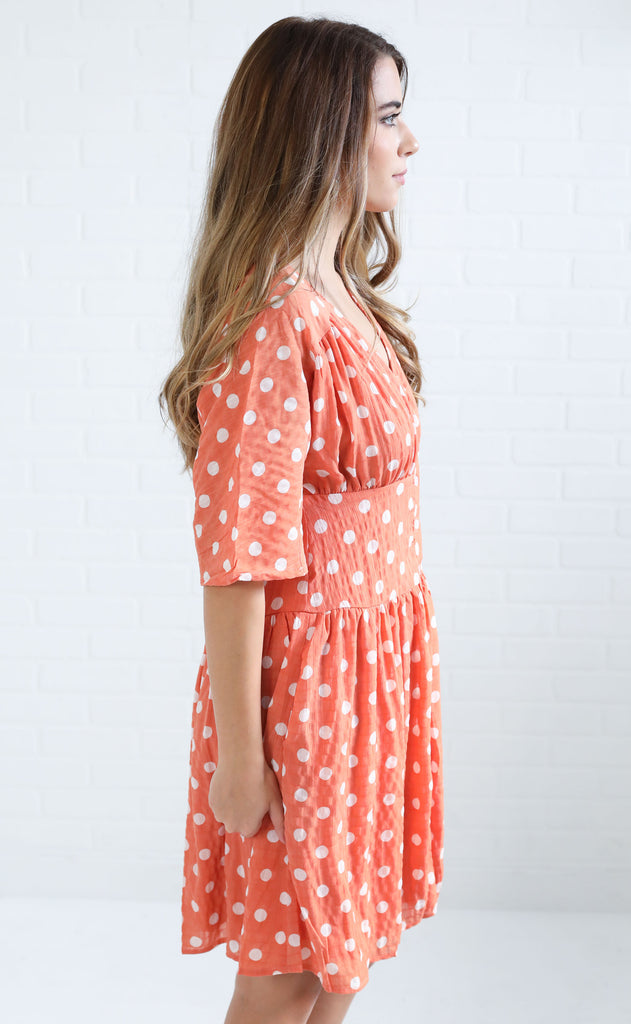 heat wave polka dot dress