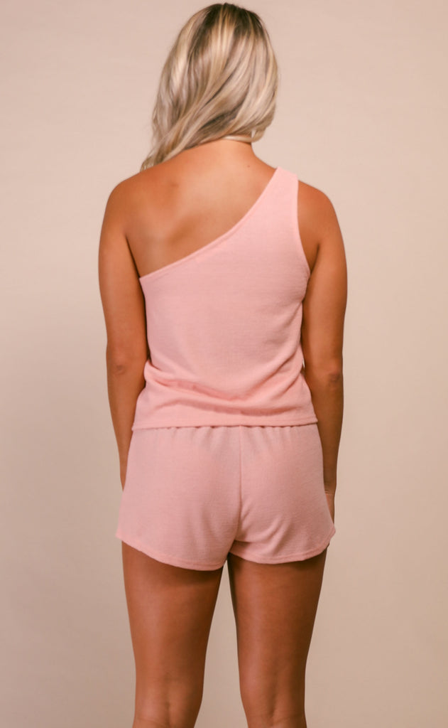 heat wave two piece set - pink