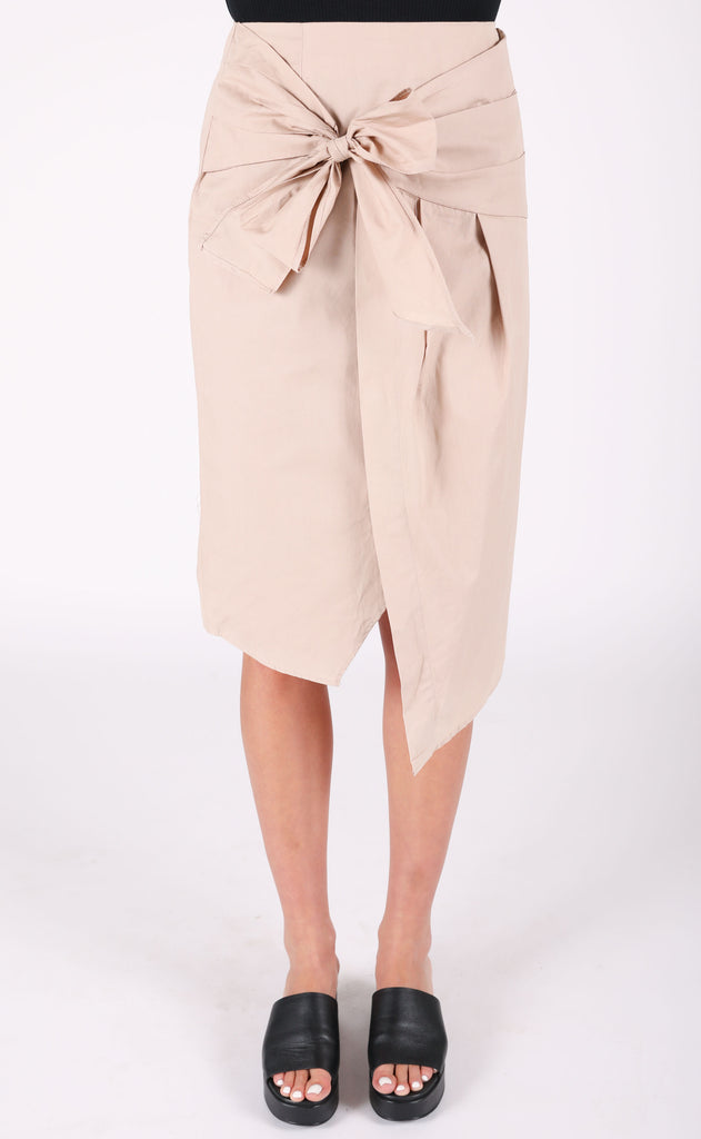 high point pencil skirt - taupe