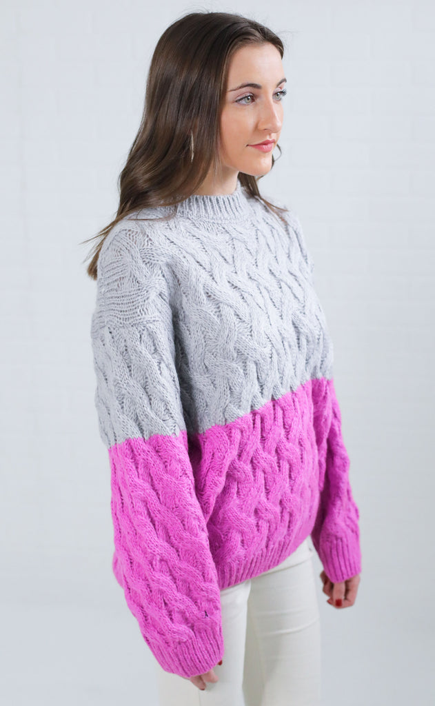 highlight knit sweater