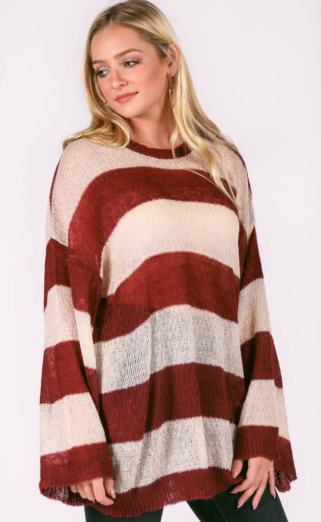 by the fireside striped sweater