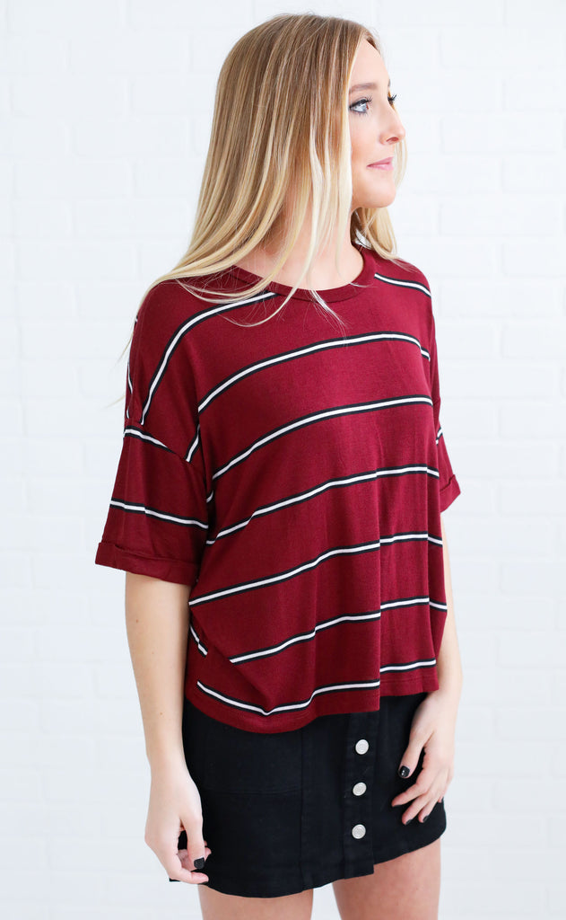 highway drive striped top