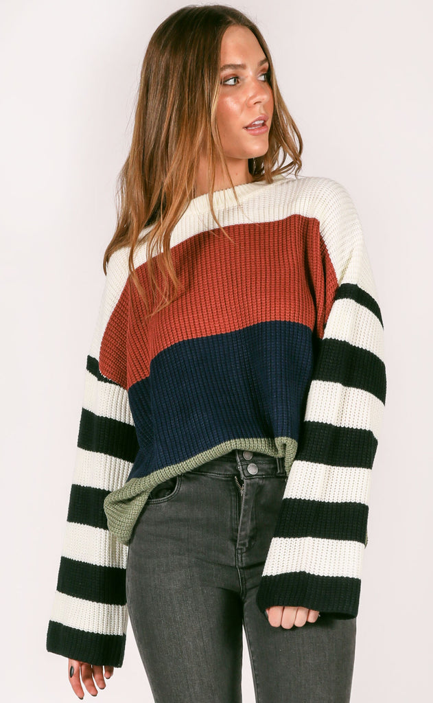 highline striped sweater