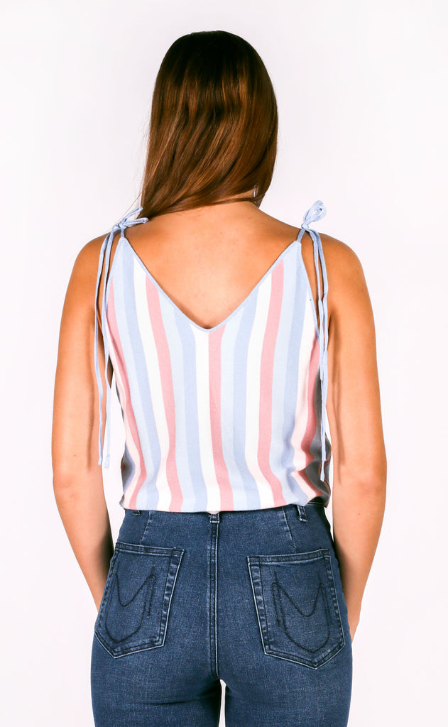 hit the road striped tank